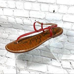 Sam Edelman red leather thong sandals sz 10